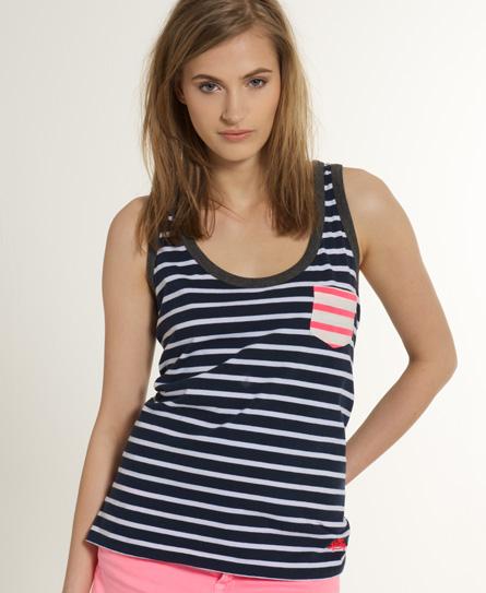 Superdry Contrast Stripe Vest Navy