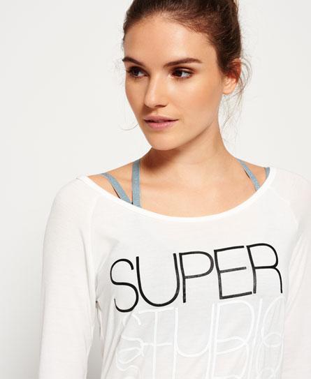 Superdry Studio Drape bluse med rund hals