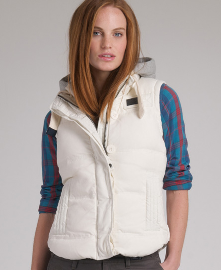 Superdry Academy Gilet Ivory