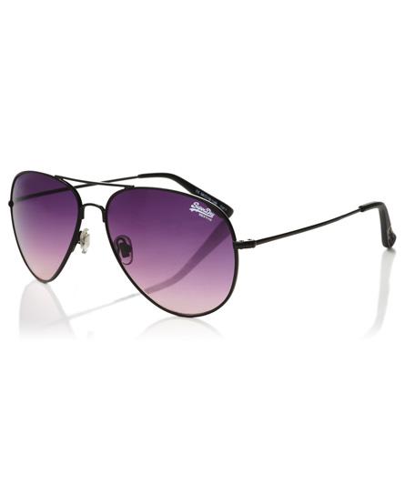 schwarz/zartes violett Superdry Huntsman Sonnenbrille