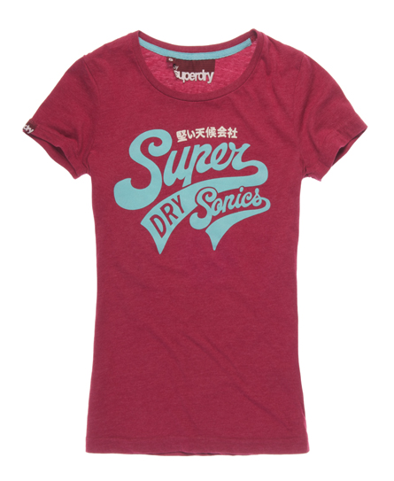 Superdry Supersonics T-shirt Red
