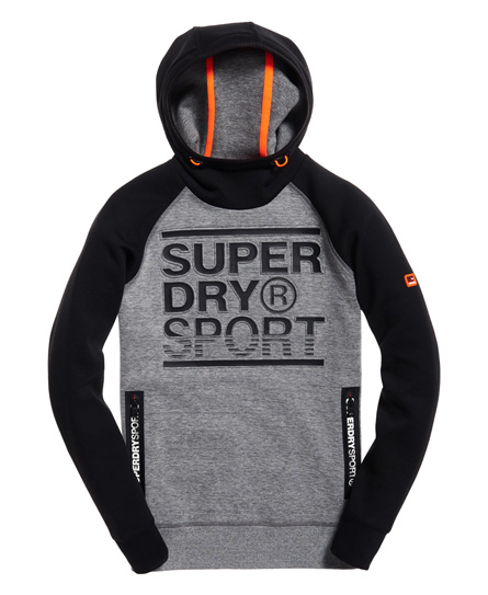 Superdry Gym Tech Embossed Print Hoodie
