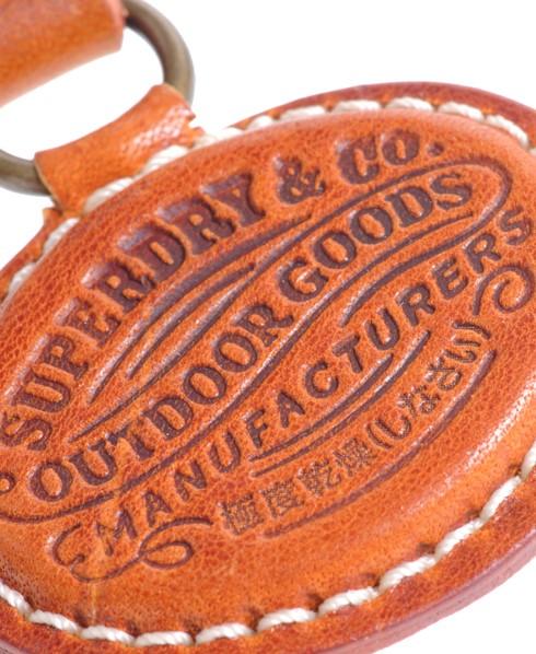 Superdry Goods Key Fob Brown