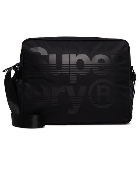 svart / svart Superdry Premium Lineman Messenger-bag