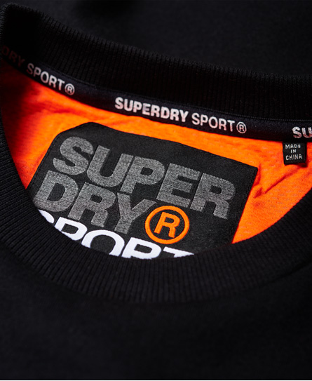 Superdry Gym Tech Embossed Crew Neck Sweatshirt