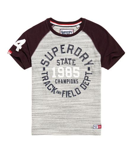 hell spacedye gesprenkelt/herbstlich brombeerig me Superdry Trackster Baseball T-Shirt