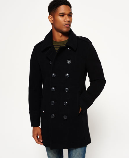 black Superdry Arc Bridge Coat