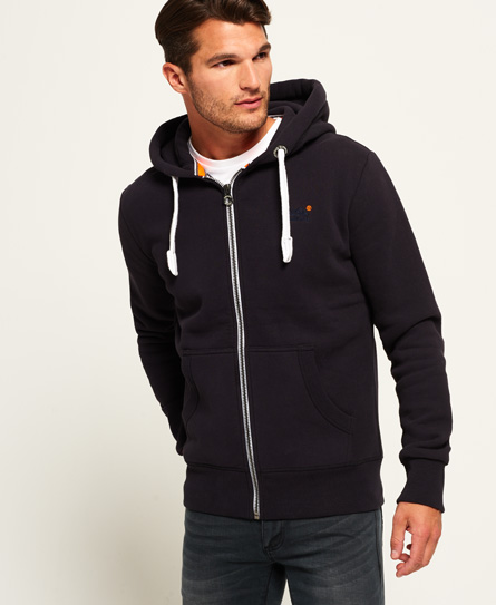 truest navy Superdry Orange Label hættetrøje med lynlås