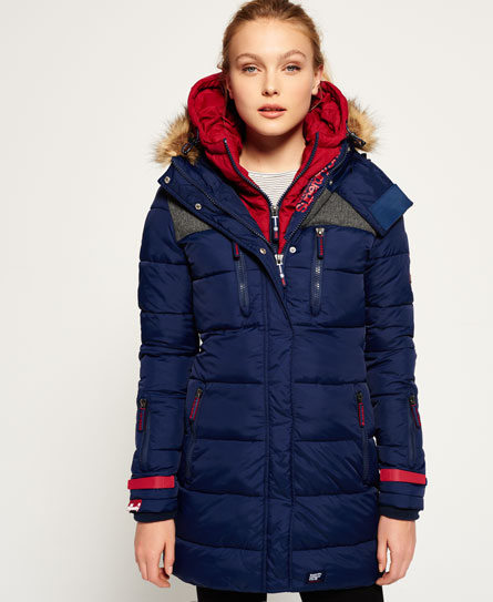 marino oscuro/cereza Superdry Parka con capucha Dark Elements