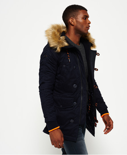 Mens - SD-3 Parka Jacket in Super Dark Navy | Superdry