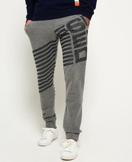 sports dark grey grit/charcoal Superdry Diagonal Joggers