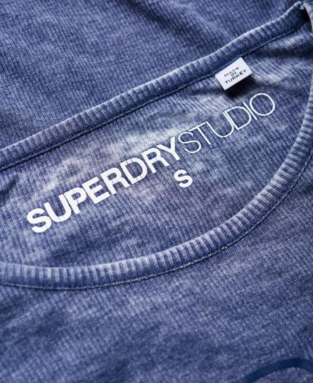 Superdry Studio burnout top i rib