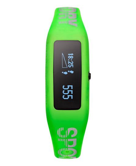 réfléchissant vert citron/blanc Superdry Capteur d'activité Fitness Tracker
