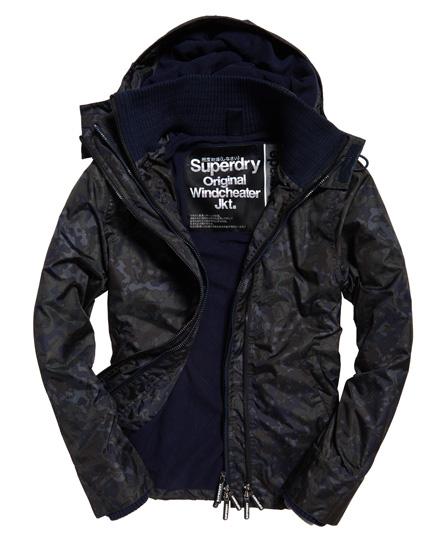 Superdry Superdry Arctic Printed SD-Windcheater jakke med hætte