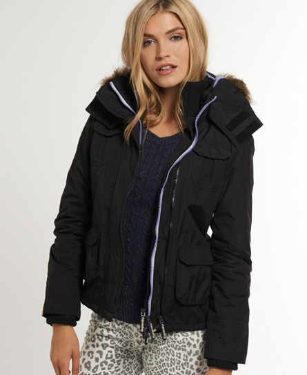 Superdry Arctic Fur Windcheater Black