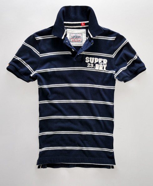 superdry applique stripe polo shirt herren polo shirts. Black Bedroom Furniture Sets. Home Design Ideas
