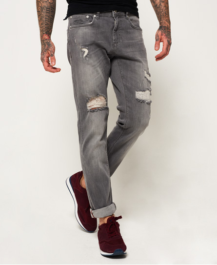 northern grey rip & repair Superdry Slim Jeans