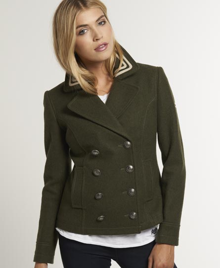 Superdry Avengers Pea Coat Green