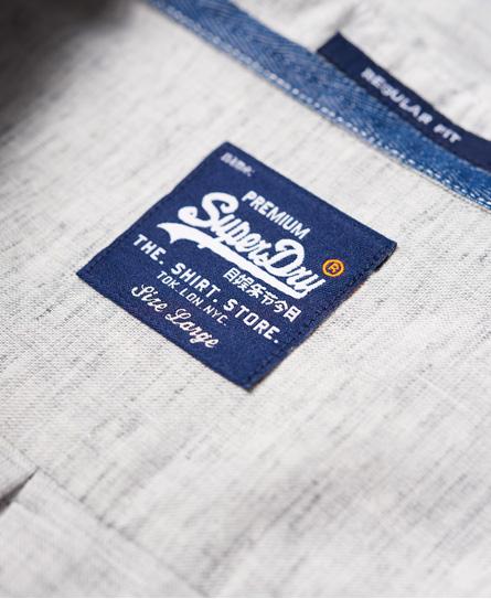 Superdry Riviera linen skjorte med lange ærmer
