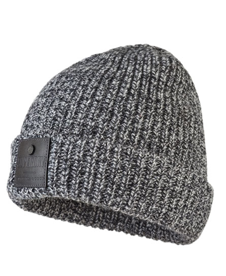 grey twist Superdry Surplus Downtown Beanie