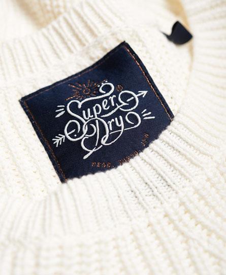 Superdry Arizona Lace Up Rib Knit Jumper