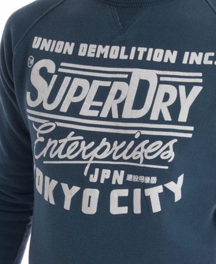 Superdry Enterprise Crew Top Blue