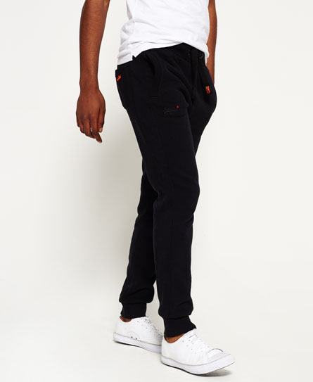 jet black Superdry Orange Label Moody Jogginghose