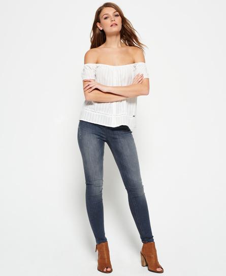 grey Superdry Sophia High Waist Super Skinny Jeans