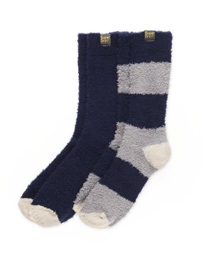 Superdry Terry Sock Twin Pack Navy