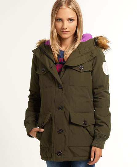 superdry veste military everest vestes et manteaux pour femme. Black Bedroom Furniture Sets. Home Design Ideas