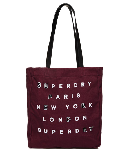 burgundy Superdry Etoile Parisian Shopper Bag