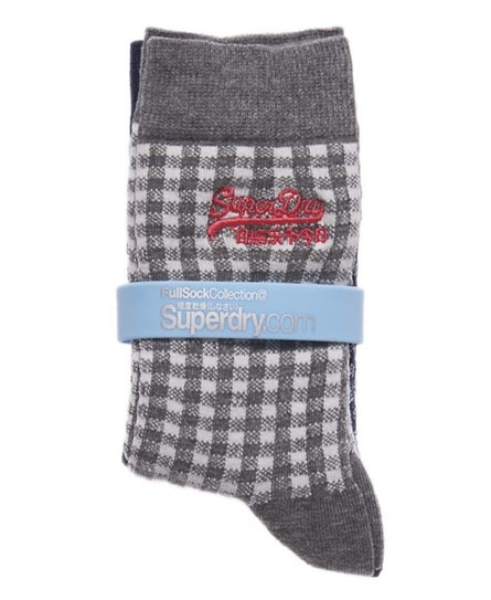 Superdry Gingham Shoe Socks Multi