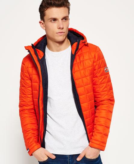 naranja intenso Superdry Cazadora con capucha Box Quilt Fuji