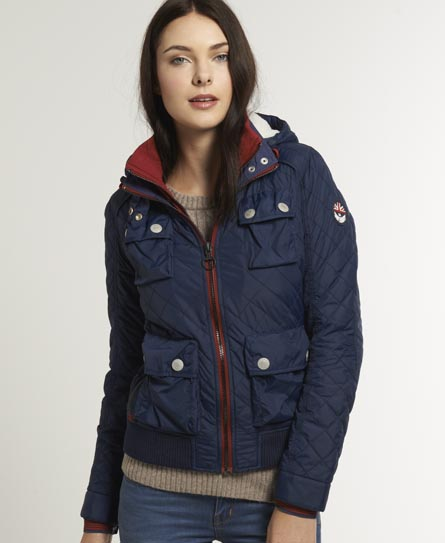 Superdry Hooded Bomber Navy