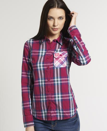 Superdry Lumberjack Pocket Shirt Pink