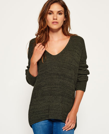 Superdry Almeta Knit Jumper Green