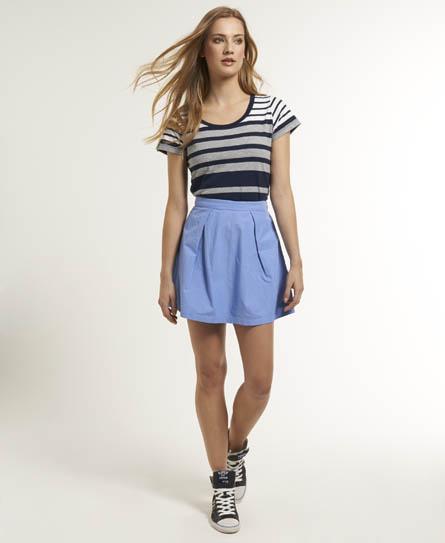 Superdry Folk Chambray Skirt Blue