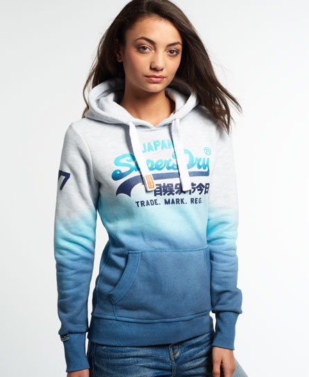 superdry vintage logo dip dye hoodie damen hoodies. Black Bedroom Furniture Sets. Home Design Ideas