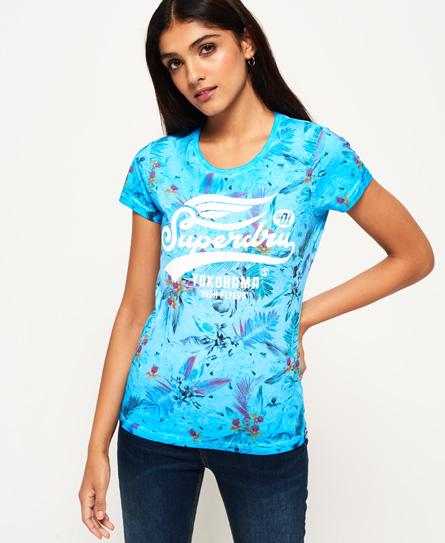 High Flyers T-Shirt mit Überfärbung