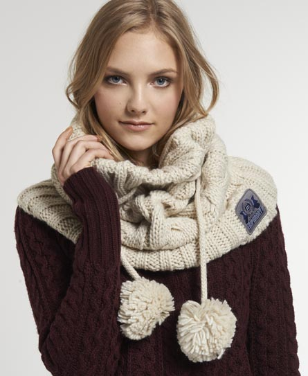 Superdry Cable Snood Cream