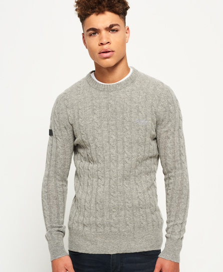 thunder Superdry Harlo Cable Crew Jumper