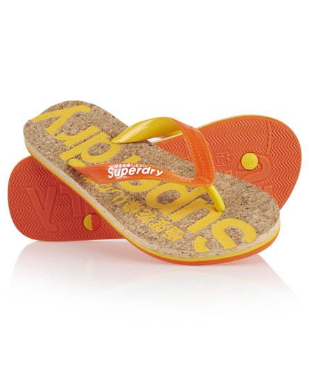 Superdry Cork Flip Flop Orange