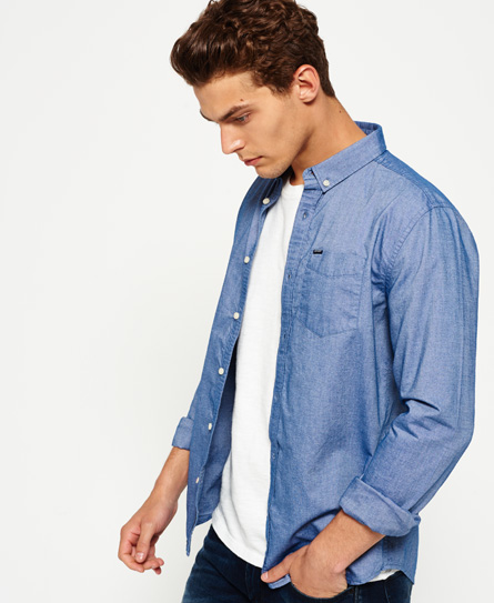 classic chambray Superdry Ultimate Oxford skjorte