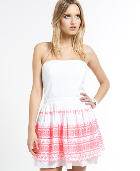 Superdry 50s Broderie Dress White