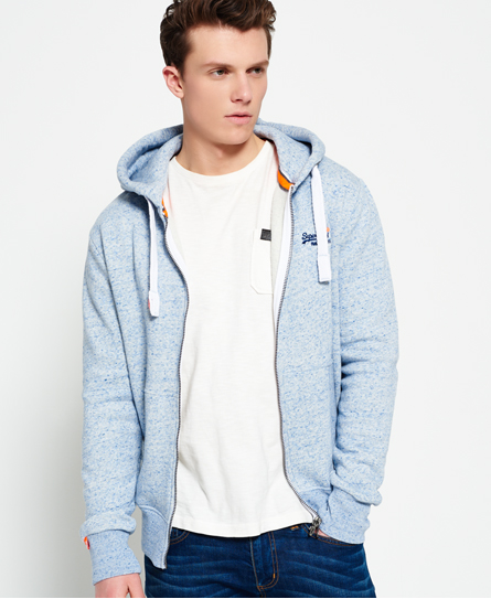 Superdry Sweats À Zippée Orange Capuche Veste Label nWBnxf