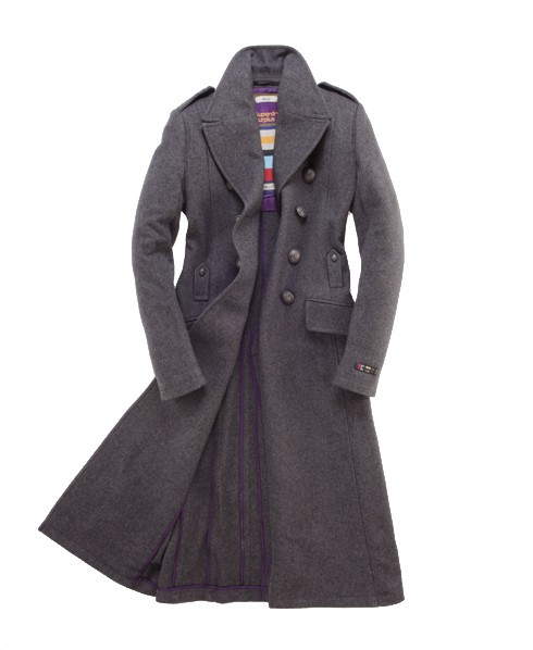 Superdry Officer's Coat Dark Grey