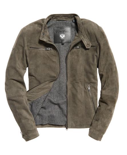 superdry veste de motard en daim real hero vestes pour homme. Black Bedroom Furniture Sets. Home Design Ideas