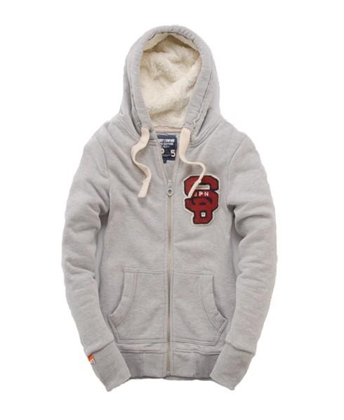 Superdry Supersoft Fur Hood Lt/grey