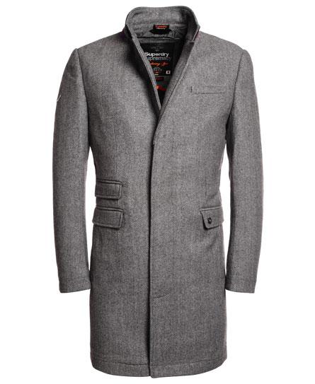 Superdry Stock Coat Light Grey