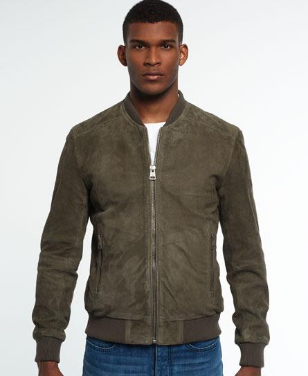 Superdry Set Suede Bomber Jacket - Mens Idris Jackets and Coats